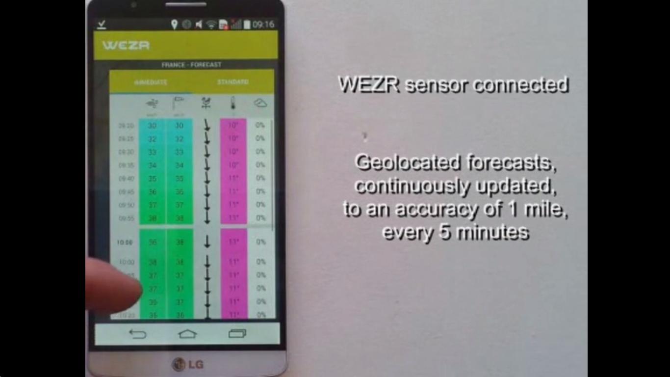 WEZR App screen