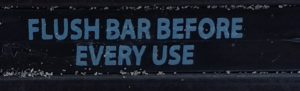 Instructions on the bottom side of the OR bar