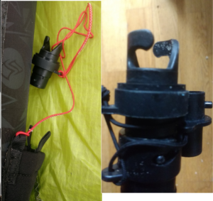 Special nozzle for inflate Flysurfer