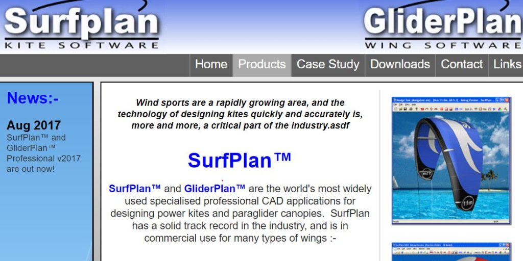 The software platform which is the current standard: Surfplan