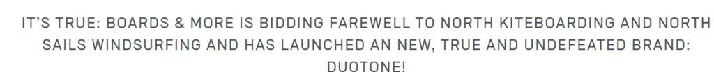 Announcement Duotone website